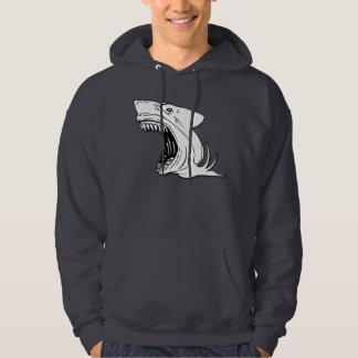 Haifisch-mit Kapuze Sweatshirt mit großem