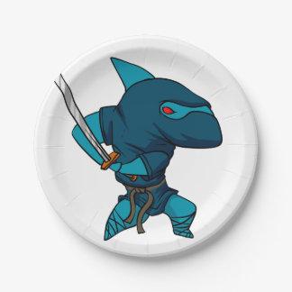 Haifisch ninja pappteller