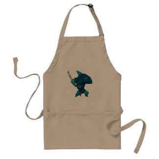 Haifisch ninja schürze