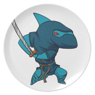 Haifisch ninja teller