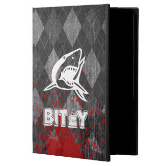 Haifisch-Piktogramm auf Grungy schwarzer Raute