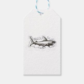 Haifisch-Schwimmen-Wasser-Tätowierung Geschenkanhänger