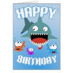 Haifisch-Spaß-Geburtstags-Karte