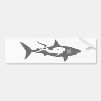 Haifisch-Sporttaucher-Tauchenshai tauchen Autoaufkleber