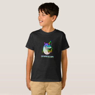 Haifisch u. Unicorn-T - Shirt-fantastisches T-Shirt