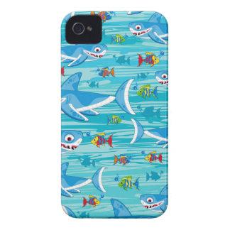 Haifisch und tropisches Fisch-Muster iPhone 4 Cover