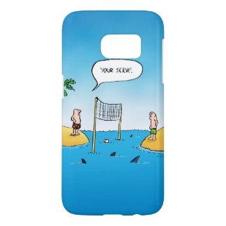 Haifisch-Volleyball-lustiger Cartoon