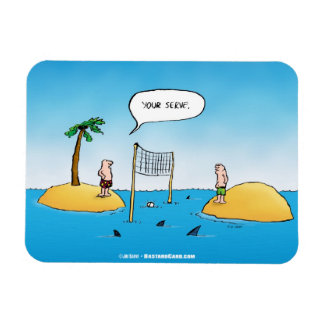 Haifisch-Volleyball-lustiger Cartoon-Magnet Magnet