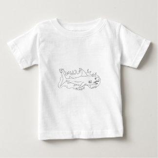 Haifisch-Wasser-Seitenzeichnen Baby T-shirt