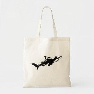 Haifisch-Zeichnen Leinentasche