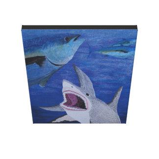 Haifischangriff Leinwanddruck