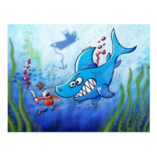 Haifische sind, stoppen Finning wütend! Postkarte