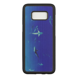 Haifische Unterwasser Carved Samsung Galaxy S8 Hülle