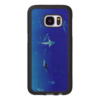 Haifische Unterwasser Samsung Galaxy S7 Holzhülle