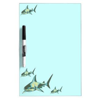 Haifischfische, wilde Tiere Whiteboards
