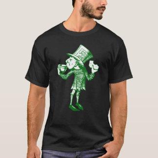 Haigha (wütender Hutmacher) schwärzte Grün mit T-Shirt
