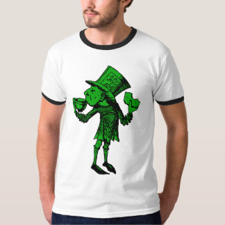 Haigha (wütender Hutmacher) schwärzte grüne Fülle T-Shirt