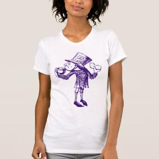 Haigha (wütender Hutmacher) schwärzte Lila mit T-Shirt