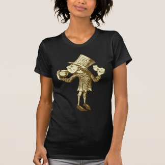 Haigha (wütender Hutmacher) schwärzte Sepia mit T-Shirt
