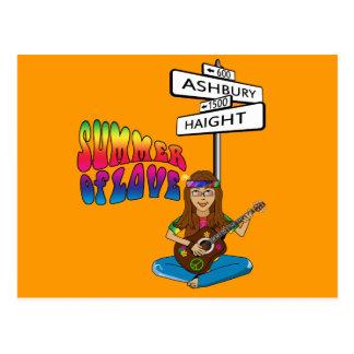 Haight Ashbury Sommer der Liebe Postkarten