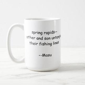 Haiku-Fischen-Tasse Kaffeetasse