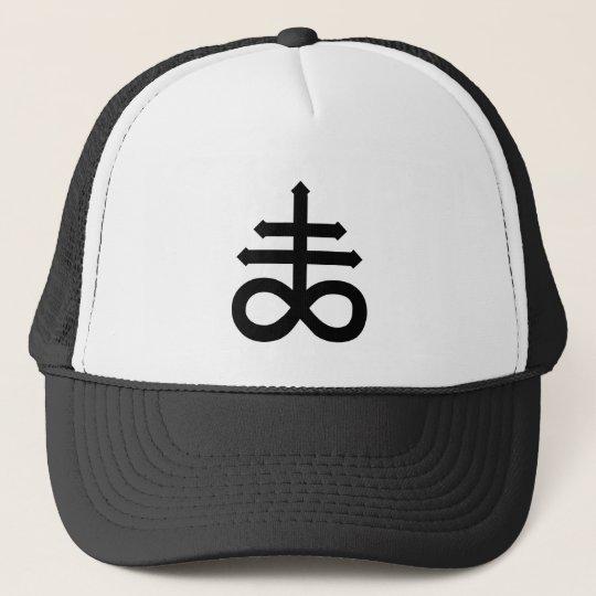 Hail Satan - 666 Cross Cap - Antichrist Truckercap Truckerkappe