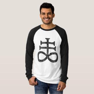 Hail Satan - 666 Cult Cross Antichrist - Raglan T-Shirt