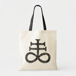 Hail Satan - 666 Cult Cross Antichrist - Totebag Tragetasche