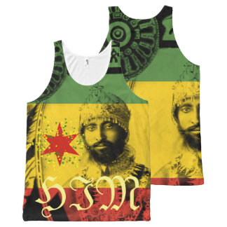 Haile Selassie ganz über Druck ER Komplett Bedrucktes Tanktop