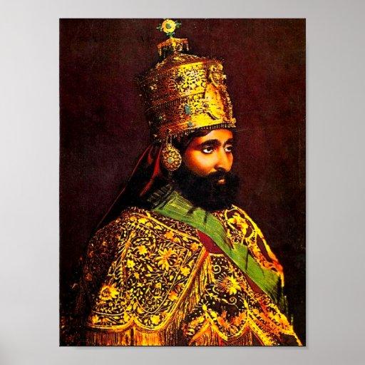 Haile Selassie I Krönungs-Plakat