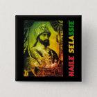 Haile Selassie Knopf Quadratischer Button 5,1 Cm