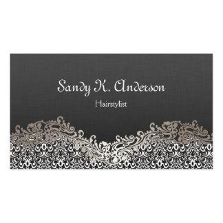 Hairstylist - elegante Damast-Spitze Visitenkarten