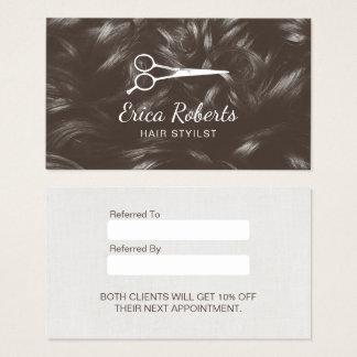 Hairstylist-Haar-Salon-berufliche Empfehlung Visitenkarte