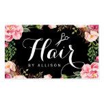 Hairstylist-Haar-Stylist-romantische Visitenkarten