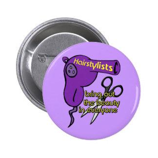 Hairstylists-Knopf Runder Button 5,7 Cm