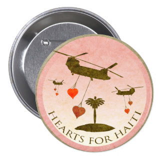 Haiti-Entlastungs-Valentinsgruß-Knöpfe Anstecknadelbutton