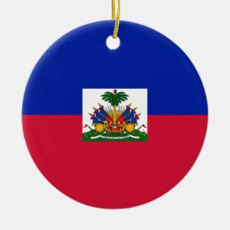 Haiti-Flagge Keramik Ornament