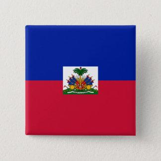 Haiti-Flagge Quadratischer Button 5,1 Cm