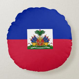 Haiti-Flagge Rundes Kissen