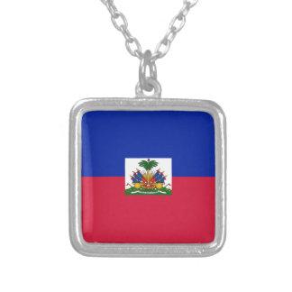 Haiti-Flagge Versilberte Kette