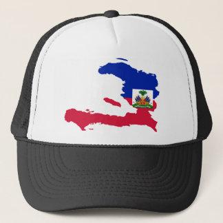 Haiti-Flaggen-Karte HT Truckerkappe