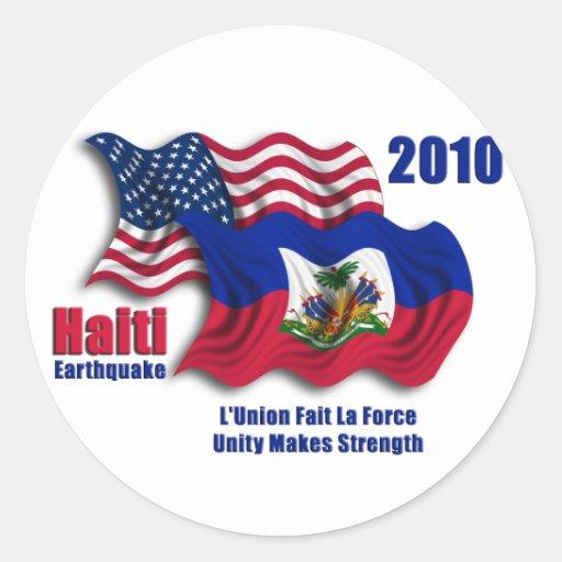 Haitianer u. amerikanische wellenartig bewegende F Stickers