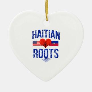 Haitianische Flaggenentwürfe Keramik Ornament