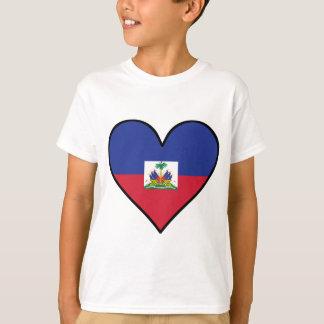 Haitianisches Flaggen-Herz T-Shirt
