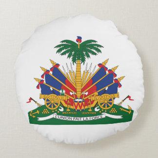 Haitis Wappen Rundes Kissen