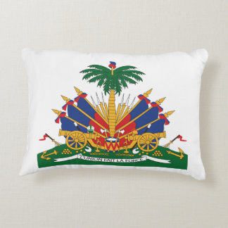 Haitis Wappen Zierkissen