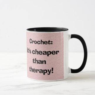 Häkelarbeit: Billiger als Therapie-Kaffee-Tasse Tasse