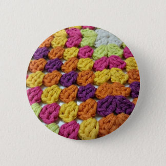 Häkelarbeit-Oma-Quadrat Runder Button 5,7 Cm