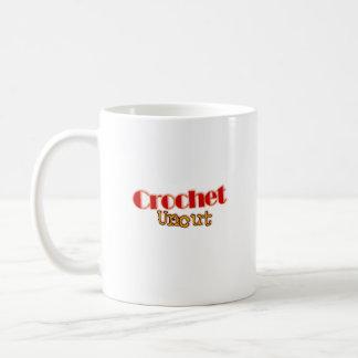 Häkelarbeit-ungeschnittene NamensTasse Kaffeetasse