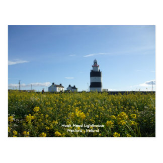Haken-Hauptleuchtturm im Sommer Postkarte